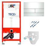 Система инсталляции для унитазов Tece Square К300832 4 в 1 с кнопкой смыва