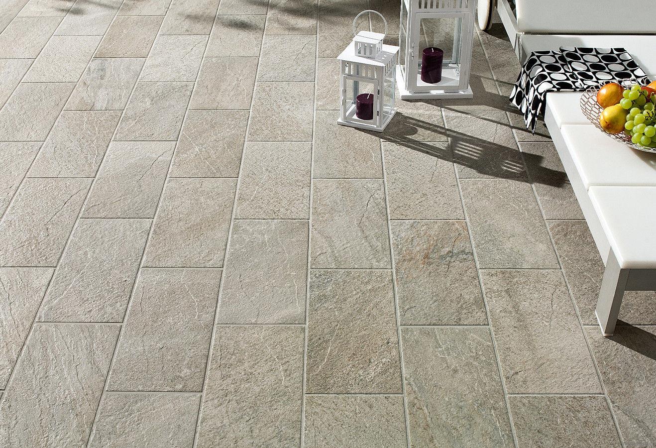 Outdoor stone tile flooring