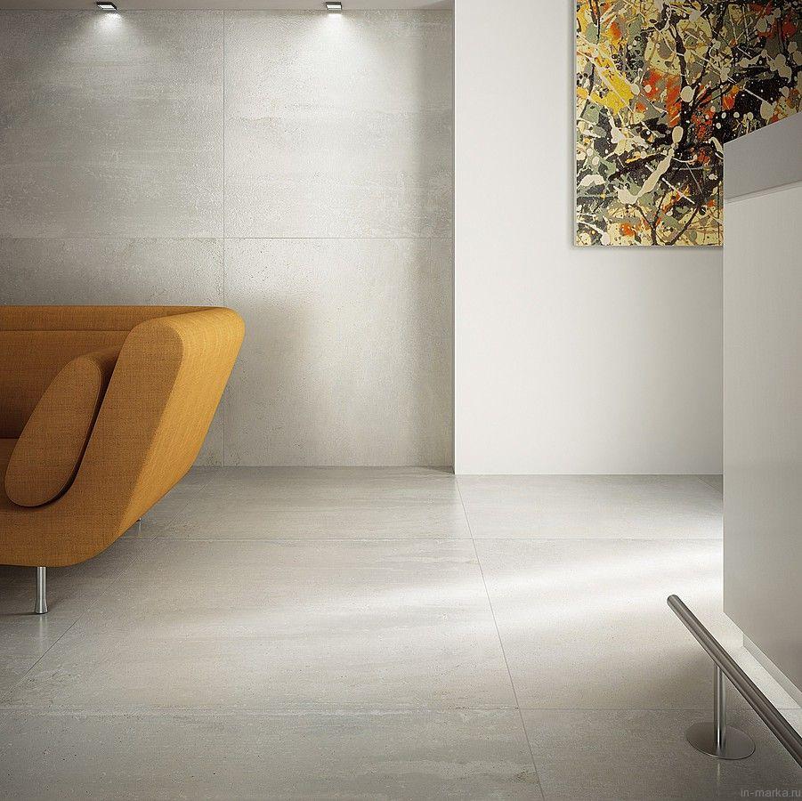 Large concrete floor tiles