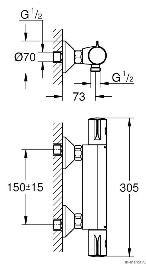 Термостат Grohe Grohtherm 800 34558000 для душа