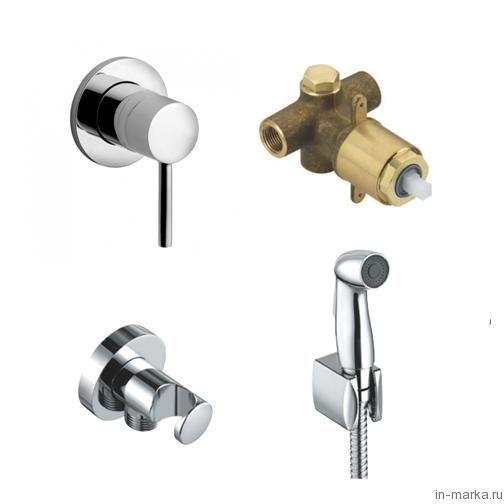 Гигиенический душ Kludi Bozz 389990576 со смесителем