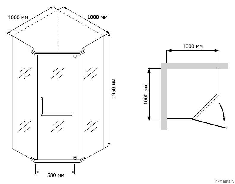 Душевой уголок RGW Passage PA-81 100 см матовый