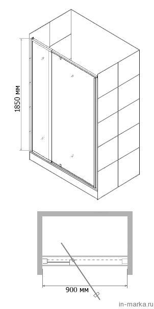 Душевая дверь в нишу RGW Passage PA-02 90 см