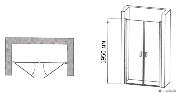 Душевая дверь в нишу RGW 1901 80 см