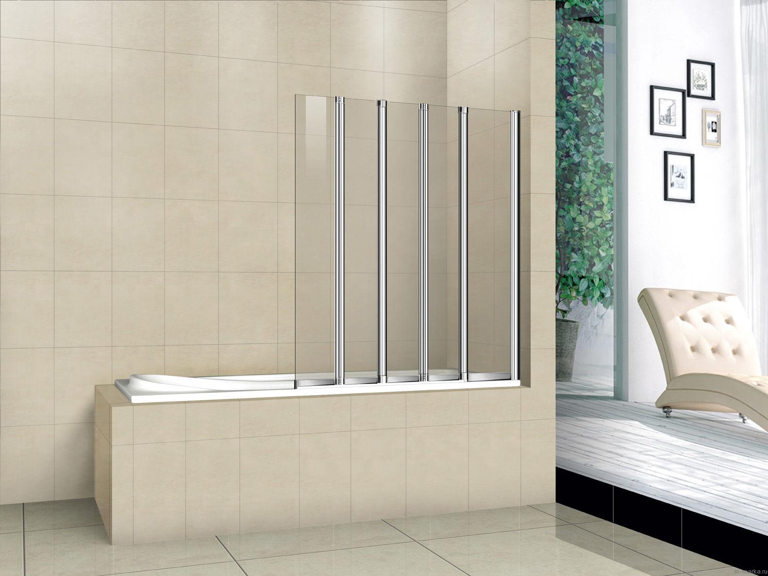 Шторка на ванну Cezares Pratico V5 120/140 C Cr