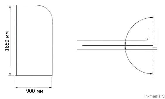 Душевая перегородка RGW Walk In WA-061 90x185 см