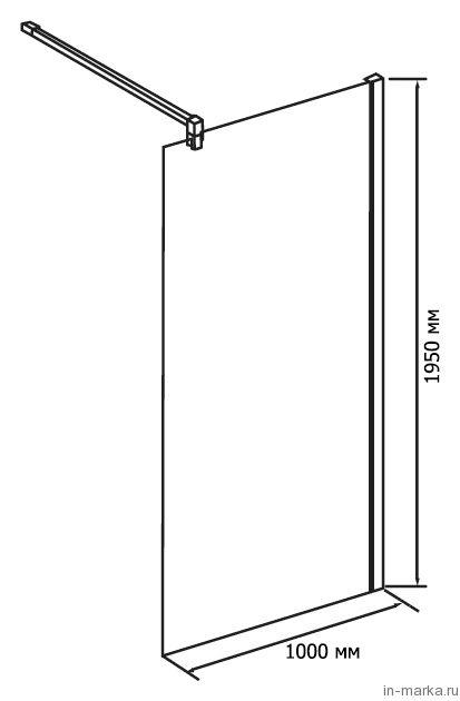 Душевая перегородка RGW Walk In WA-01 120 см