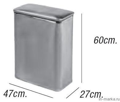 Корзина для белья Koh-i-Noor Vinile 2286 SVSV хром