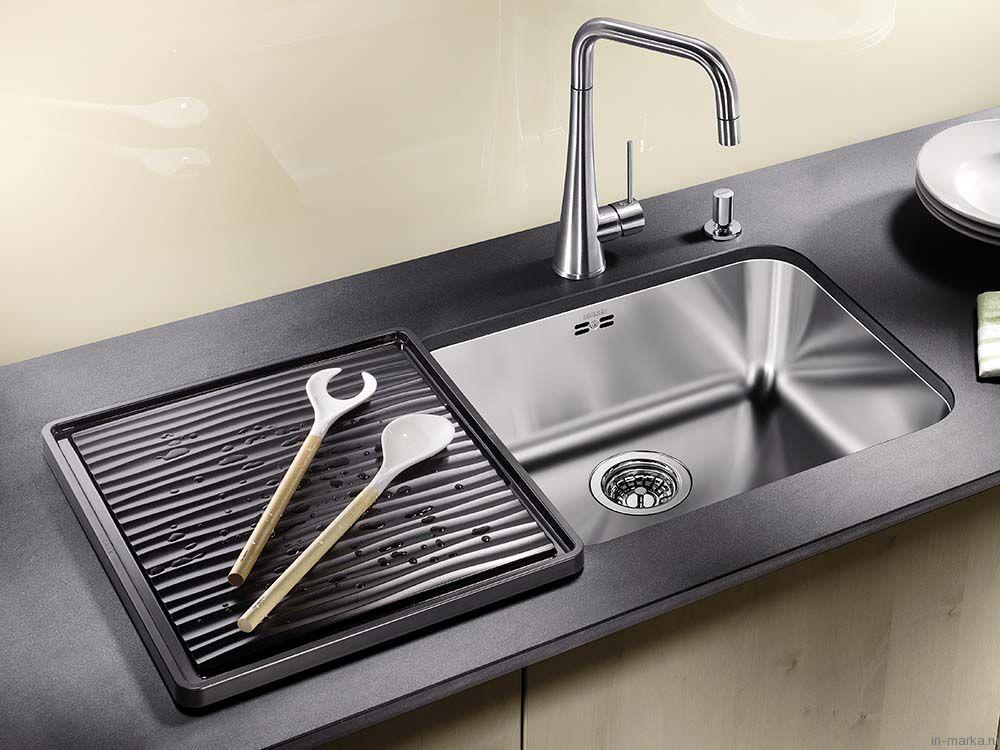 Мойка кухонная Blanco Supra 500 U сталь с клапаном