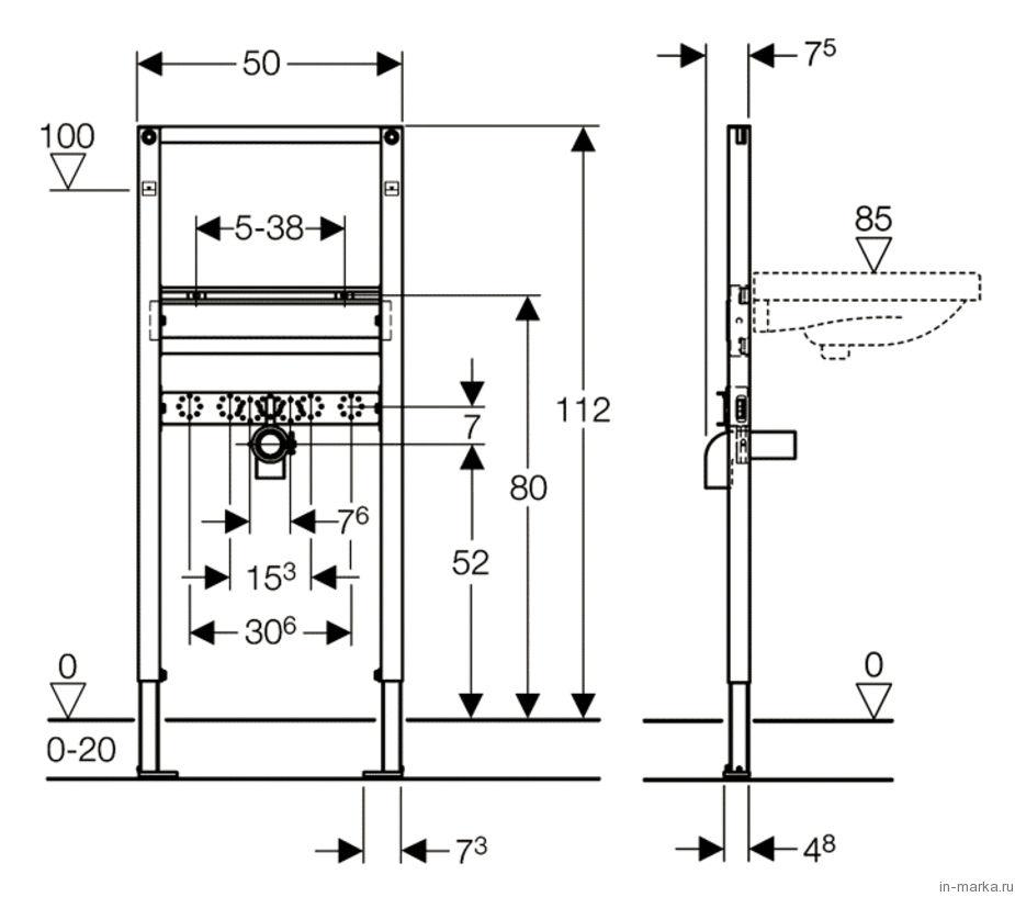 Система инсталляции для раковин Geberit Duofix 111.490.00.1