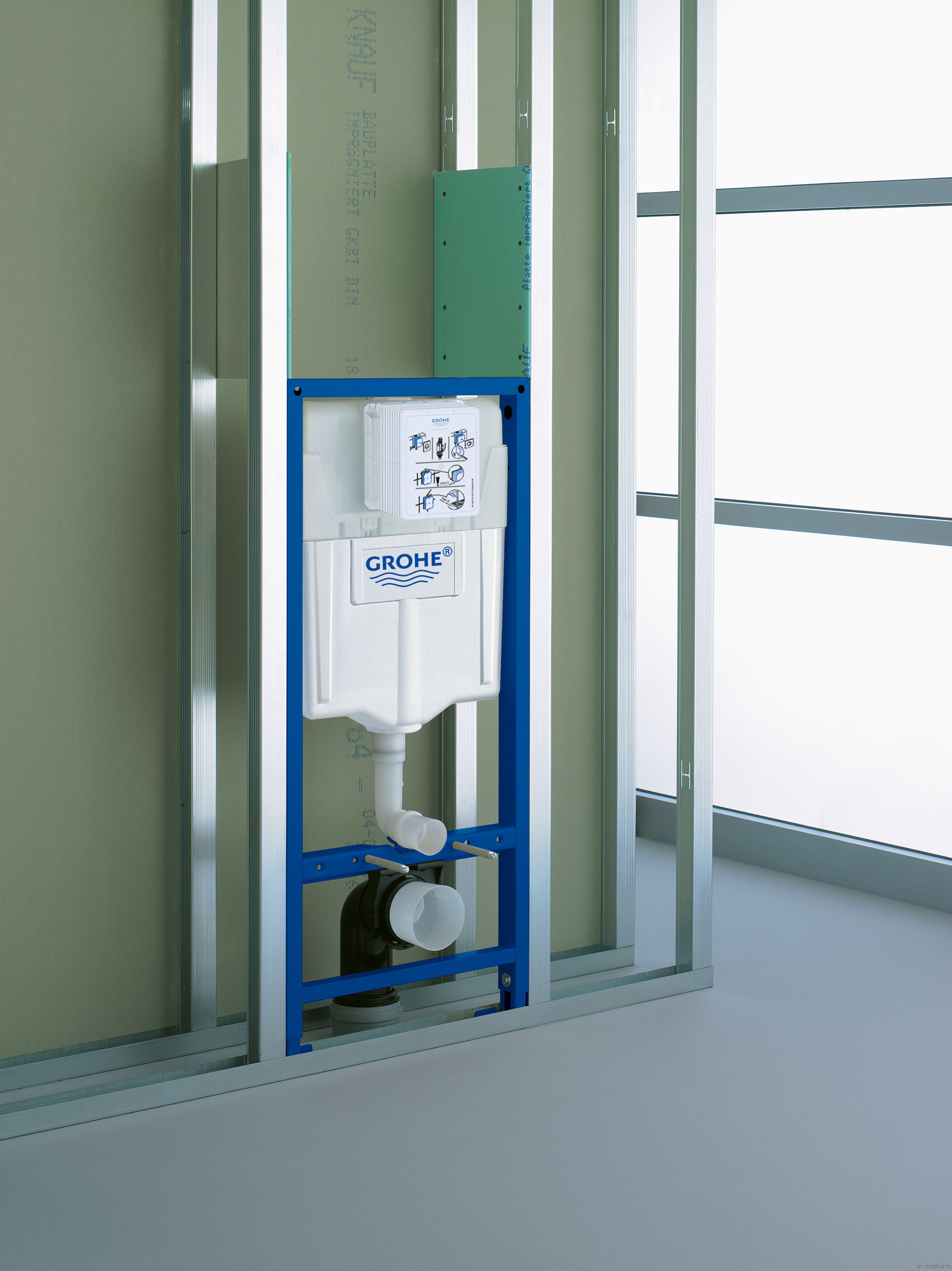 Система инсталляции для унитазов Grohe Rapid SL 38929000 4 в 1 с кнопкой смыва