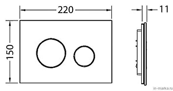 Кнопка смыва Tece Loop 9 240 658 черное стекло, кнопка золото