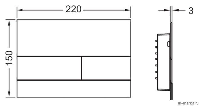 Кнопка смыва Tece Square II 9 240 830 нержавеющая сталь