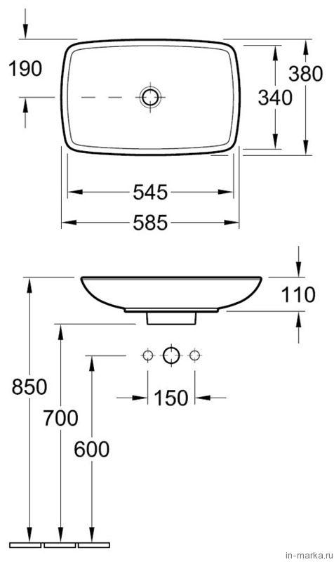 Раковина Villeroy & Boch Loop & Friends 5154 0001 alpin