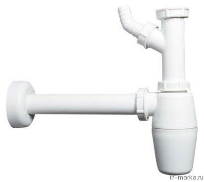 Сифон для раковины Viega 326319 с отводом под стиральную машину, без выпуска