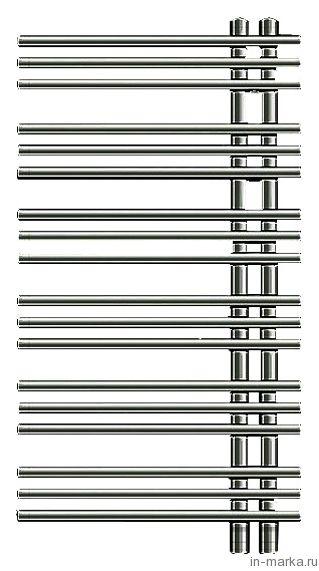 Полотенцесушитель электрический Zehnder Yucca asymmetric YAECL-090-50/RD (DBM) левый