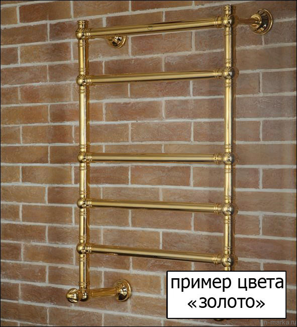 Полотенцесушитель водяной Margaroli Sole 442-4 золото