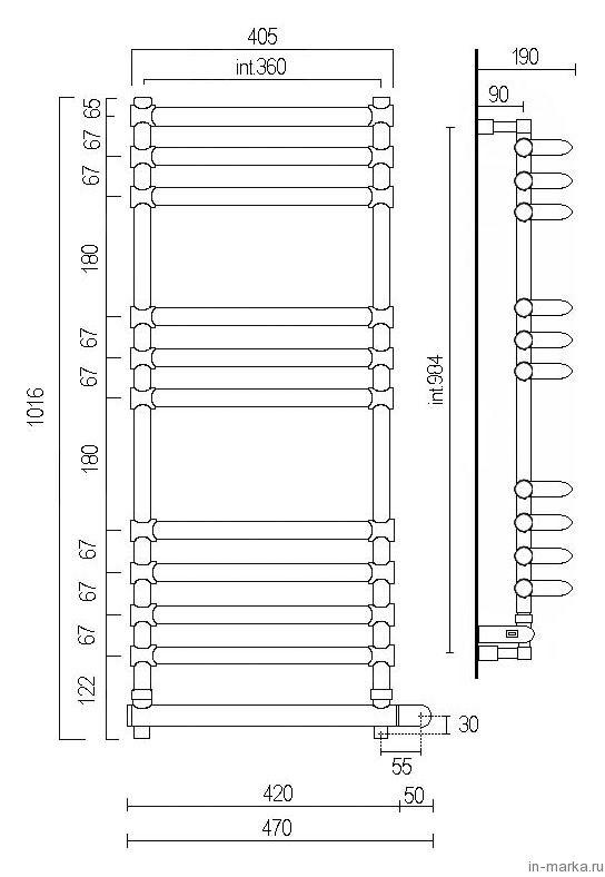 Полотенцесушитель электрический Margaroli Luna 534-11