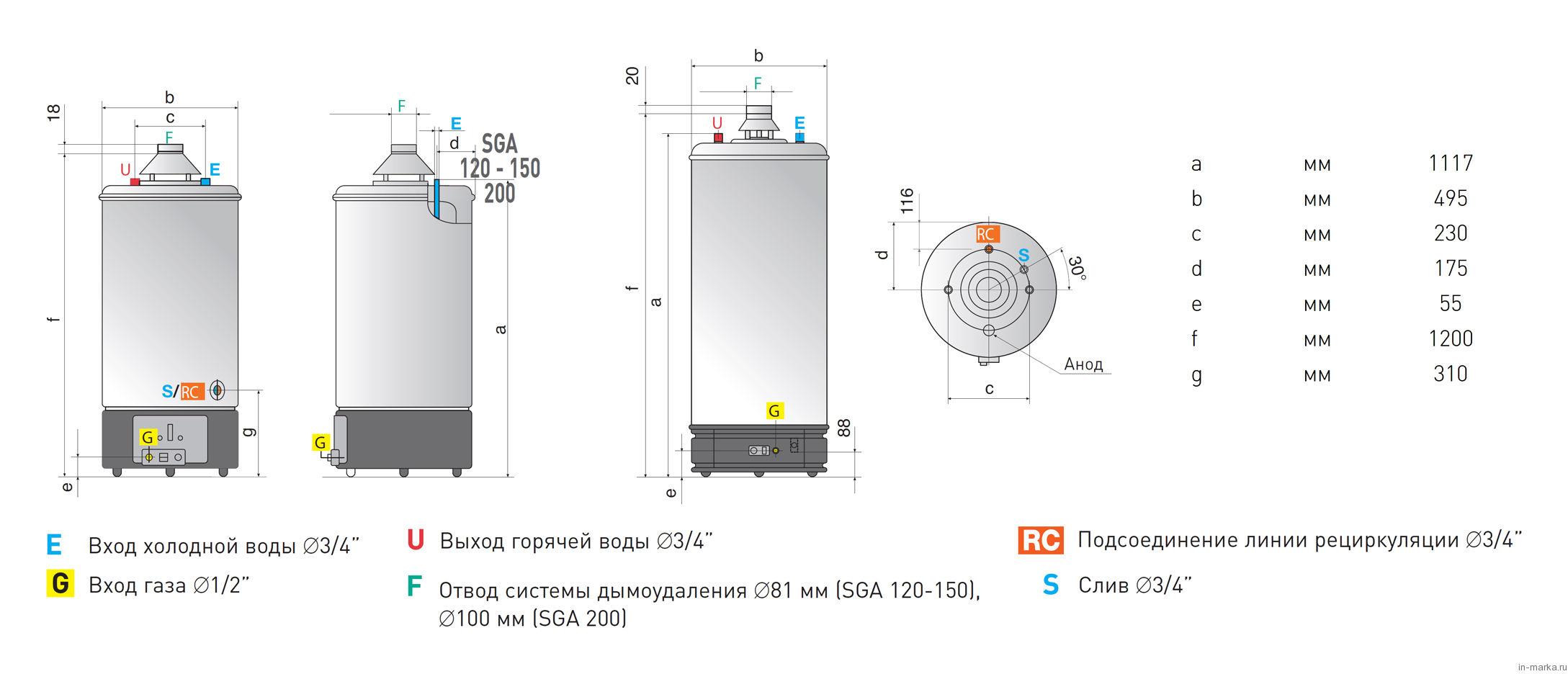 Водонагреватель Ariston SGA 120 R