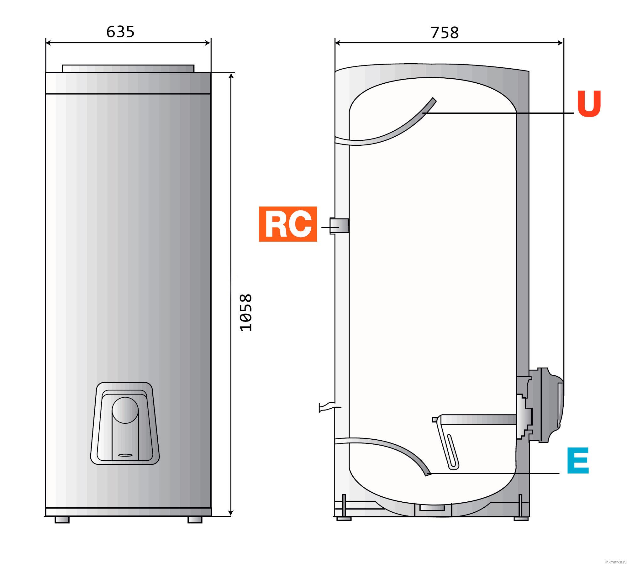 Схемы подключения накопительного горизонтального водонагревателя