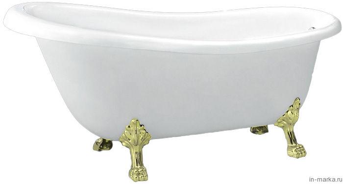 Акриловая ванна BelBagno BB04-ORO ножки золото
