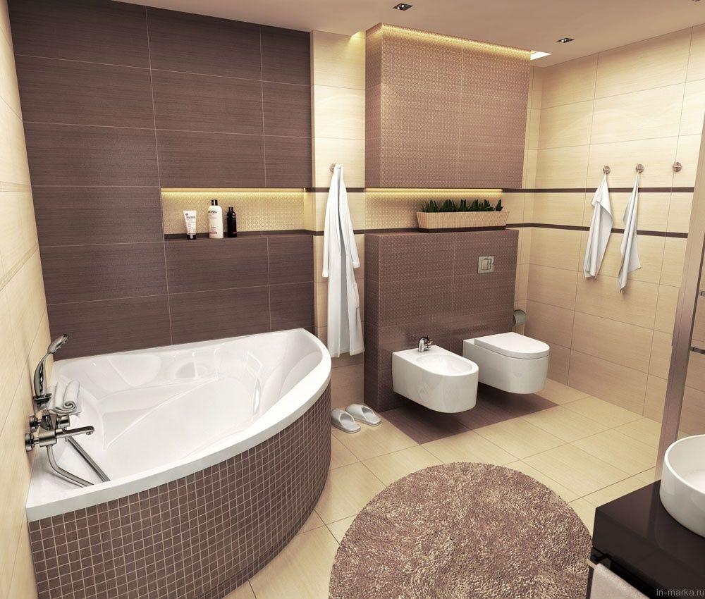Угловые ванны 6 кв.м в интерьере